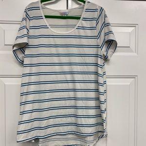 LulaRoe Women's Crewneck Long Shirt Sz 2XL